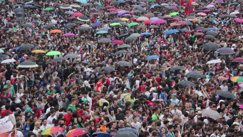"ROME, ITALY - May 01, 2012: ""Concerto del Primo Maggio"" (""Workers' Day Concert""), Piazza San Giovanni (San giovanni Square) - Workers' Day, Rome, Italy #3374627"