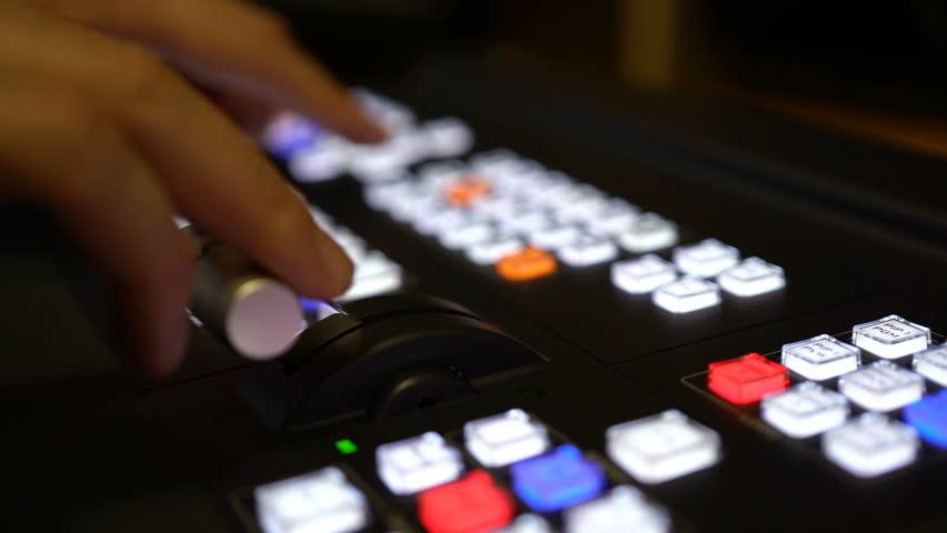 Professional Broadcast Video Mixer In Studio.4K | Shutterstock HD Video #33764977