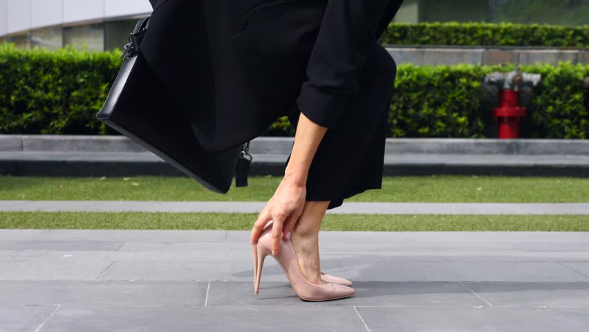 Sexy Businesswoman Feet In High Heel Shoes Walking Outdoors. Closeup. 4K.  | Shutterstock HD Video #33815737