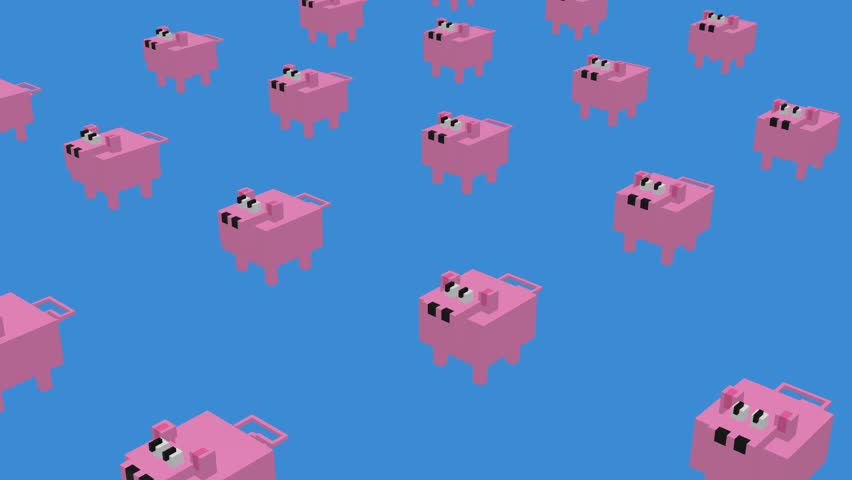 Voxel Pig -  ANIMATED BACKGROUND