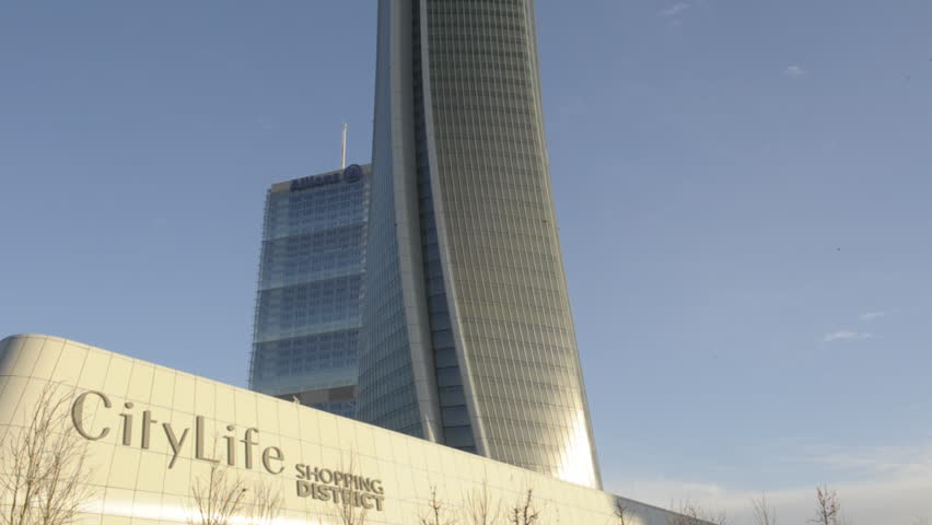 Italy - Milan dicember 13,2017 - City life complex ,Hadid and isozaki tower - The new commercial and residential area , shopping district and skyscepers   Shutterstock HD Video #33836317