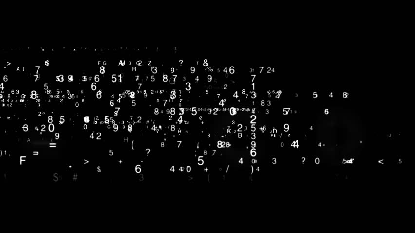 Digital matrix display loop rotation background