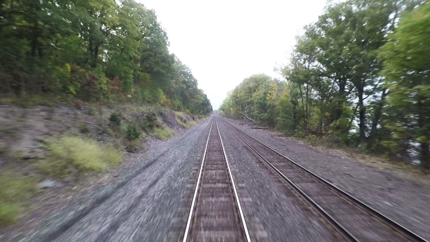 Train View.  The view from a train as it travels through New York State (hd, 25fps).