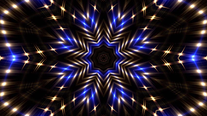 Abstract lights kaleidoscopic animation suited for tv shows, concerts ,music projections , vj projections at parties in night clubs, discos and  trance events.  | Shutterstock HD Video #33887527