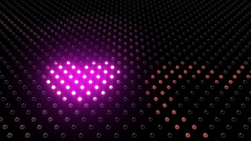 LED Light wall. Heart. | Shutterstock HD Video #3393107