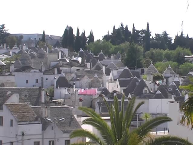 Alberobello is famous for his trulli. A trullo is a traditional Apulian stone dwelling with a conical roof.