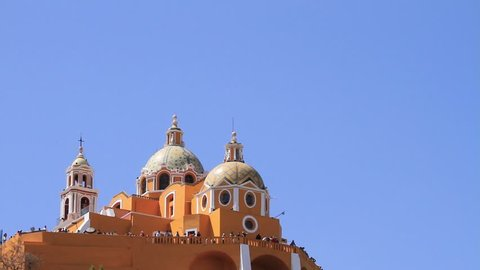 Cholula Church and Sky