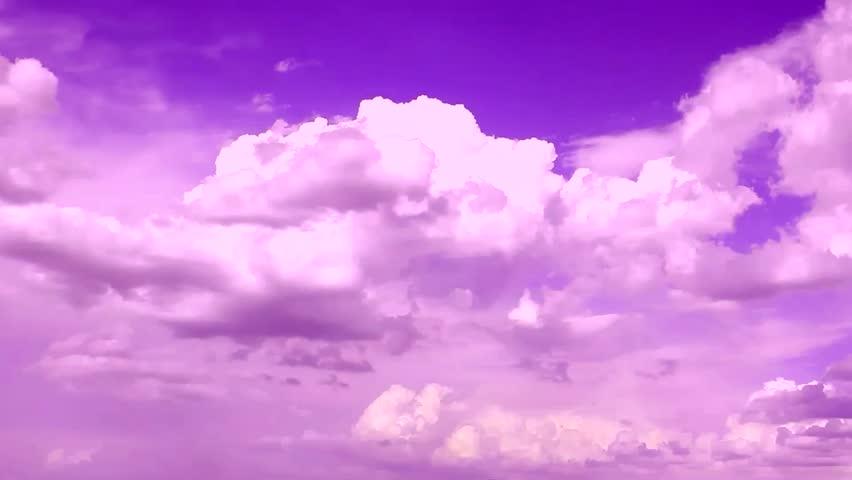purple amp orange sky in building clouds background nature