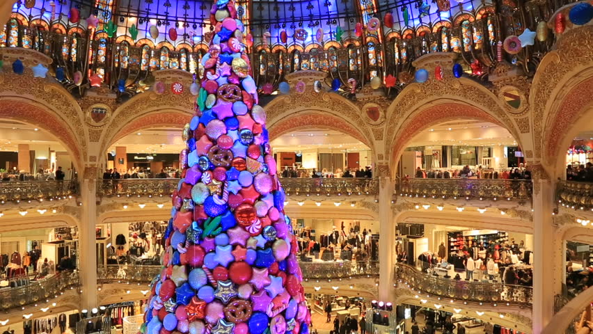 Christmas In France Decorations.Paris France December 17 2017 Stock Footage Video 100 Royalty Free 34024177 Shutterstock