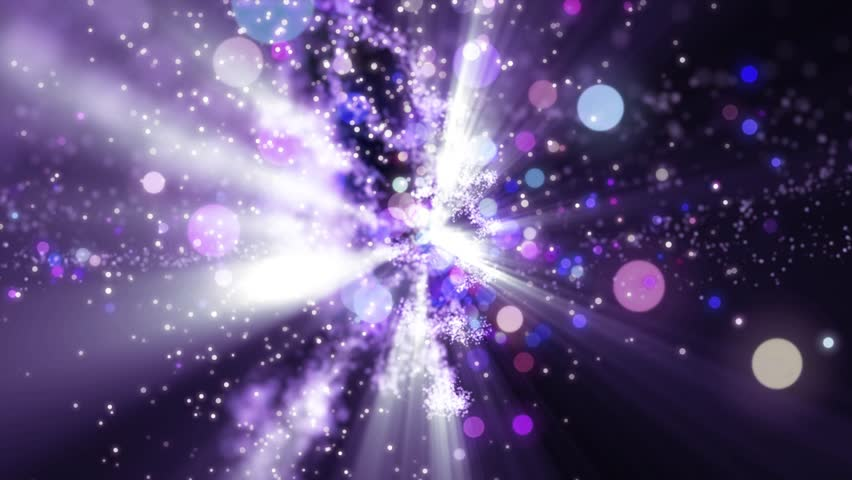 Space violet background with particles. Space lilac dust with stars on black background. Sunlight of beams and gloss of particles galaxies. | Shutterstock HD Video #34036477