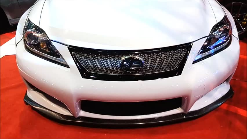 MANILA, PH - NOV. 6: White Lexus car at Manila Auto Salon on November 6, 2016 in Manila, Philippines. Manila Auto Salon is a annual gathering exhibit for automotive aftermarket industry.