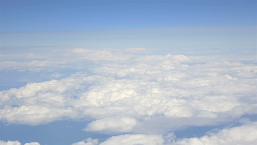 High quality aerial shot above the clouds in 4K