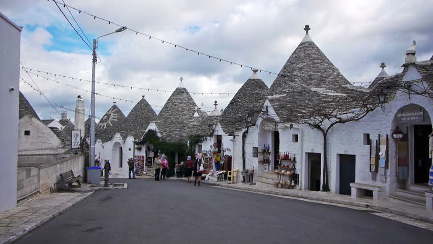 ALBEROBELLO, ITALY - December, 18: Trulli - traditional Apulia stone roof houses on December, 18, 2012, Alberobello, Italy. Alberobello is UNESCO World Heritage Site visited all year round