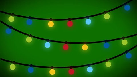Christmas lights background animated. Motion graphics in after effects of Christmas celebration. Bright lights on christmas tree.
