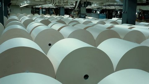 Large Rolls of Newsprint