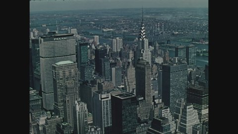 NEW YORK, 1971, View of New York City from the top of the Empire State Building of the Pan Am Building