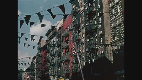 NEW YORK, 1971, St. Marks Place, people on street, New York City, psychedelic shop