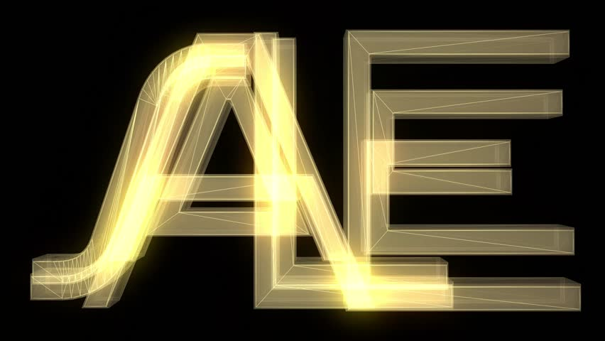 yellow wireframe neon SALE text fly in with glitch noise distortion animation on black background - new quality retro vintage game film motion joyful advertisement commercial video footage loop
