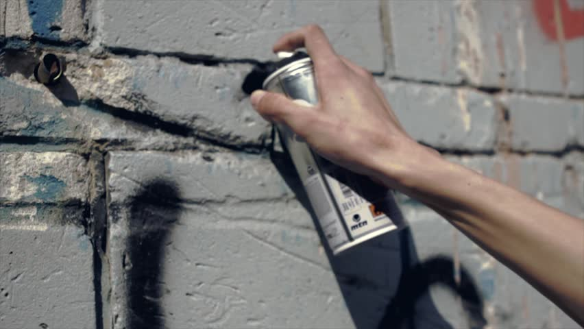 hand draws graffiti