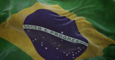 Brazil Flag Slow Motion Loop