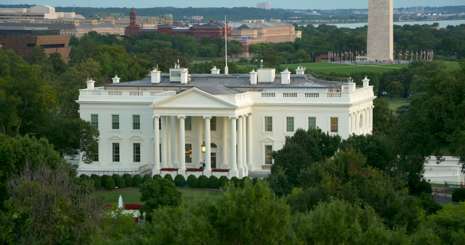 The White House from above.