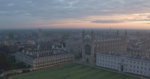 DRONE Cambridge University UK. Kings College Chapel sunrise drone video. This iconic building in the UK is a beautiful sight to see for any tourist visiting Cambridge University.