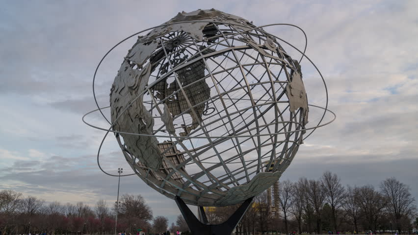 Hyperlapse Unisphere fountain Flushing Meadows Corona Park. (Queens, NY 04/10/2016)
