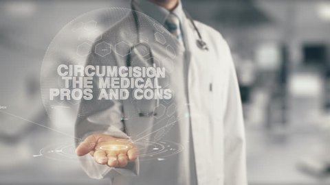 Doctor holding in hand Circumcision The Medical Pros and Cons