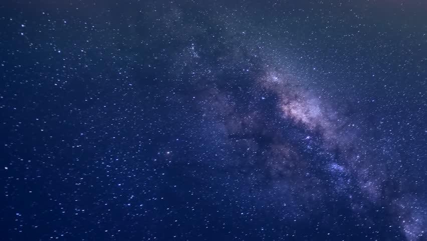 Milky way rotate in night dark sky, beautiful star shine in horizon, meteor shower tim lapse. Mojave Desert, Full HD, 1920x1080. FHD. | Shutterstock HD Video #34534207