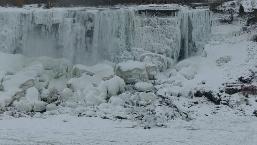Niagara Falls Frozen And Ice Stockvideos Filmmaterial 100 Lizenzfrei 34718197 Shutterstock