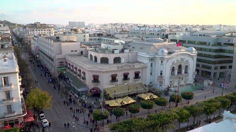 High angle view over Tunis, Tunisia