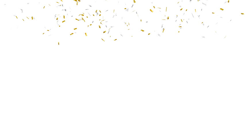 Animation of gold and silver confetti falling. Alpha channel, 4K | Shutterstock HD Video #34738567