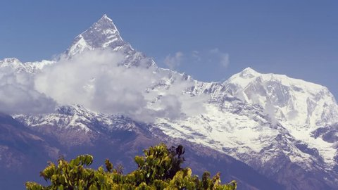 Machapuchare mountain. Nepal landscape.