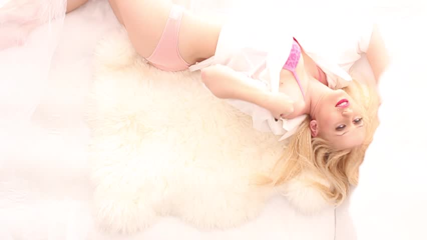 gorgeous blondes are being fucked in the white bed  183137