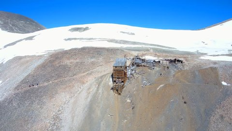 Abandoned Hilltop Mine captured by drone on Mt. Sherman, Colorado