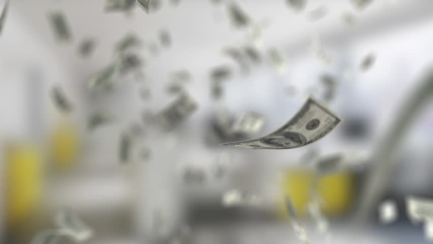 Background With a Falling Banknotes | Shutterstock HD Video #34896907