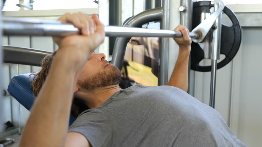 Sensational Fitness Man In Gym Training Stock Footage Video 100 Royalty Free 34907167 Shutterstock Camellatalisay Diy Chair Ideas Camellatalisaycom