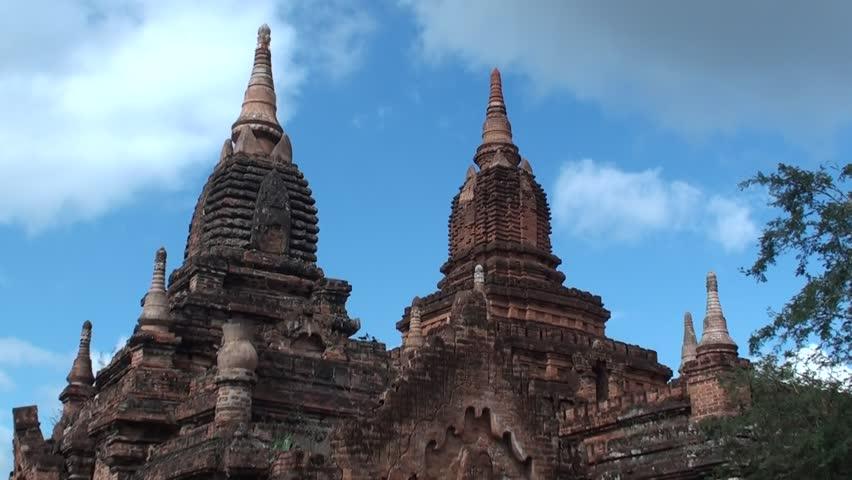 Bagan, Mandalay/Myanmar -  01/08/2018 :  Temple in Bagan Archaeological Zone #34907437