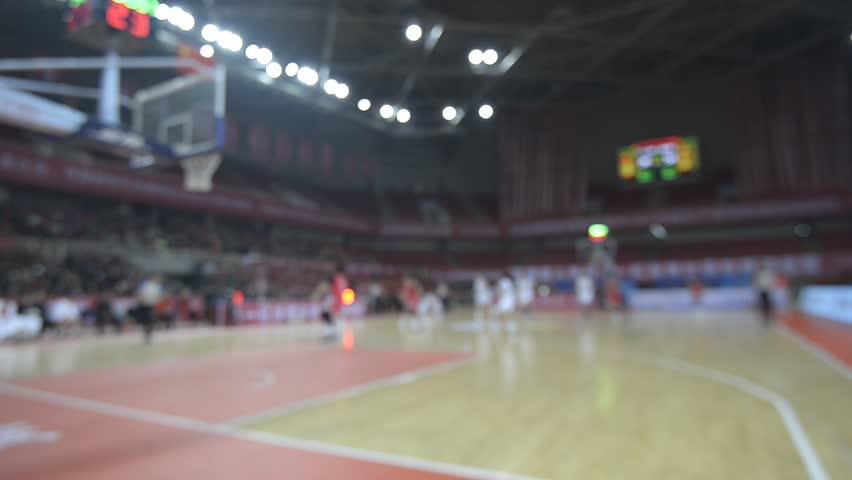 A basketball game indoors | Shutterstock HD Video #34916098