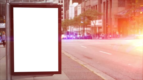 Outdoor Advertising Billboard Bus Stop Advertisement Blank Ad Poster