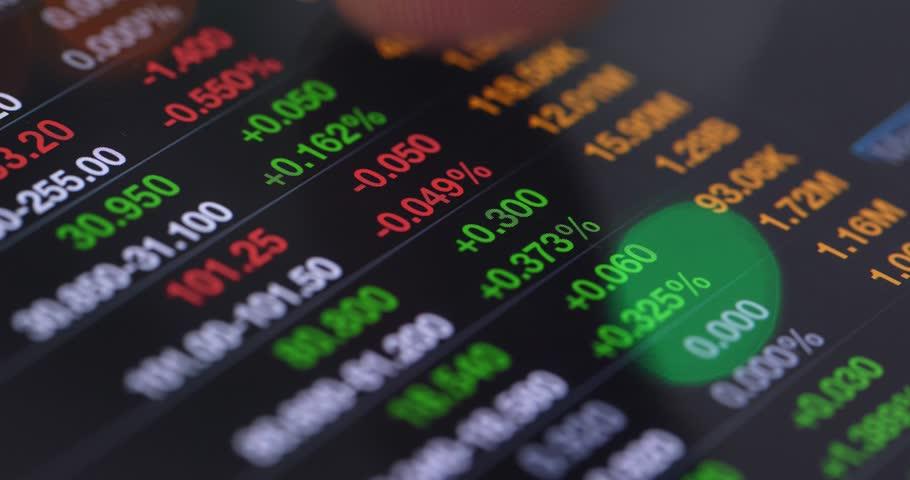 Stock market graph on tablet computer | Shutterstock HD Video #34946524