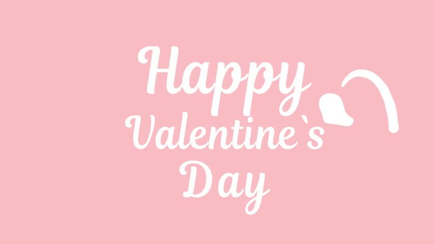 Happy valentine`s day writing text animation. Liquid Logo Animation. Valentine day gift card video. stock footage | Shutterstock HD Video #34965796