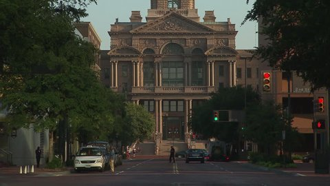 WS TU Facade of town hall / Fort Worth, Texas, USA