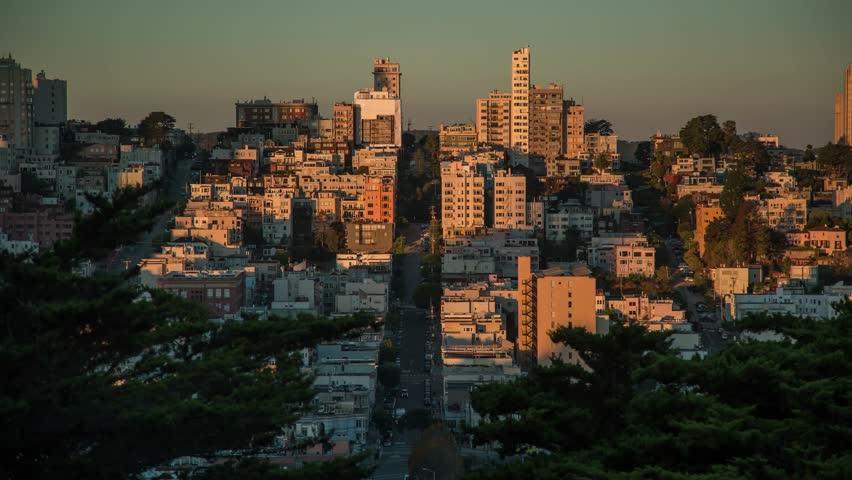 SAN FRANCISCO Time lapse of San Francisco downtown San Francisco, CA USA