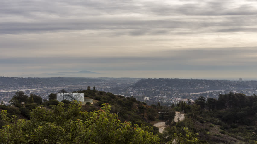Panning time-lapse of los angeles from griffith park in hollywood | Shutterstock HD Video #35016787