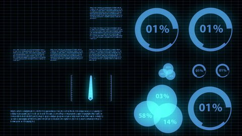 Motion infographic futuristic glow concept