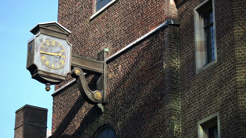 All Fellows by the Tower Church, close up of the clock