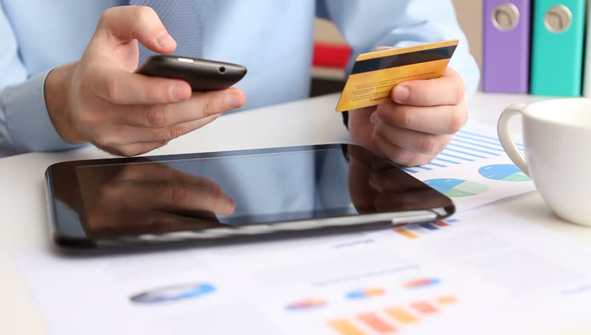 Online banking with smart phone
