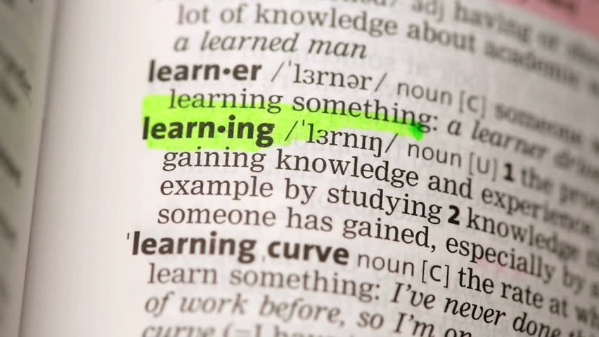 Definition Of Learning Highlighted In The Dictionary Stock Footage ...