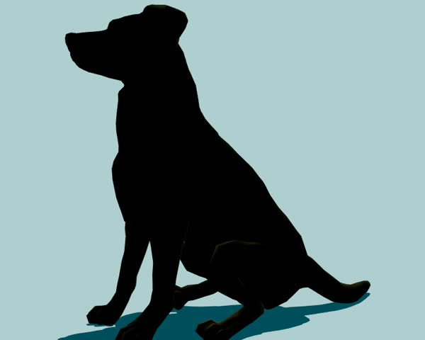 Dog (silhoutte) in various poses